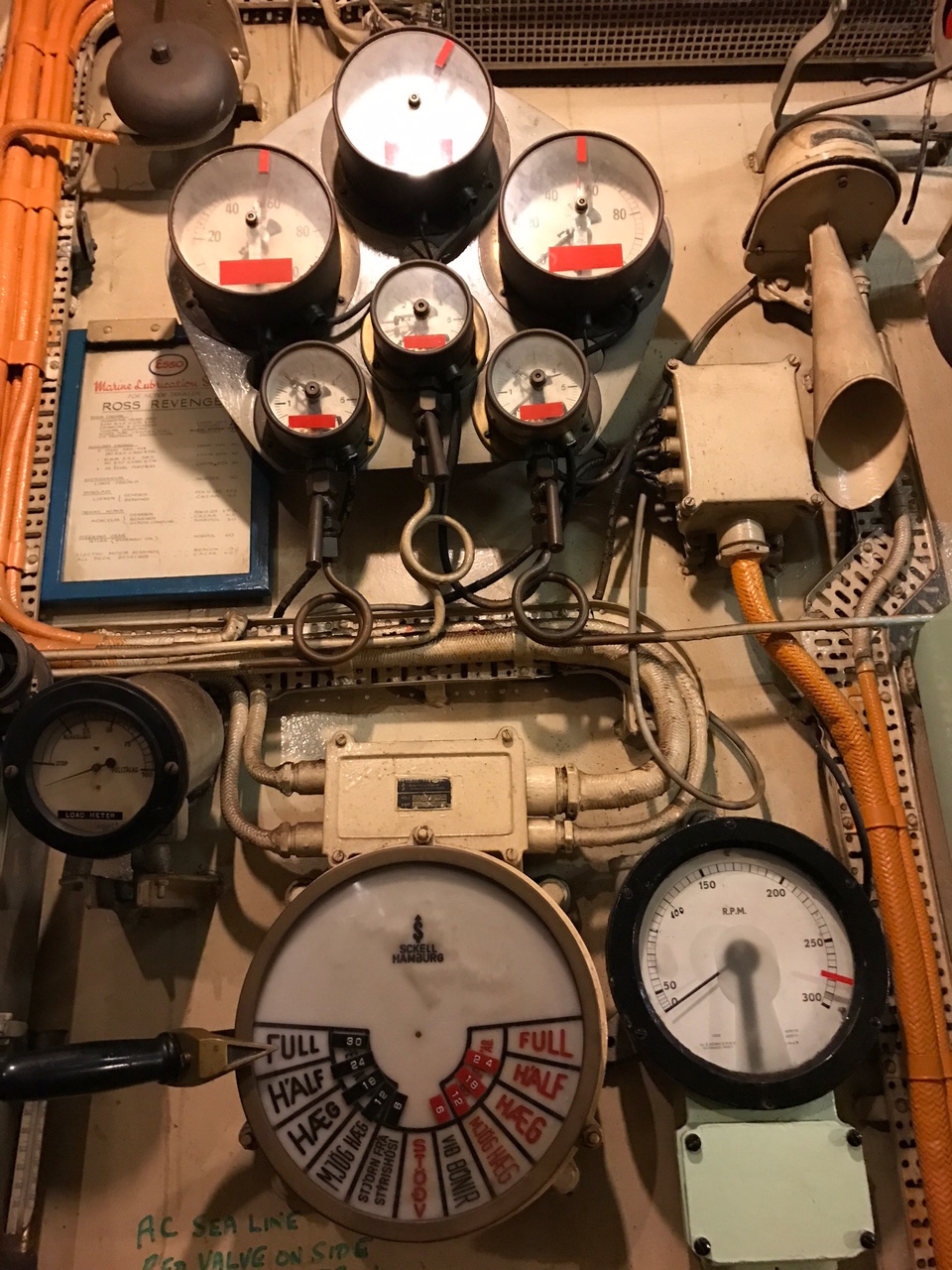 Ross Revenge Engine Room Telegraph